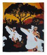 Afro Carib Dance Fleece Blanket