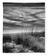 After Sunset In B And W Fleece Blanket