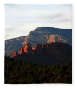 After Sunset In Sedona Fleece Blanket