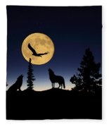 After Sunset Fleece Blanket