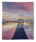 After The Rain Sunrise Painting Fleece Blanket
