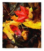 After The Rains Of Autumn Fleece Blanket