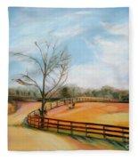 After The Ride By Karen E. Francis Fleece Blanket