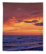 After The Sunset Fleece Blanket