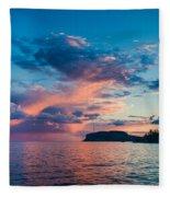 Afterglow On The Lakeshore Fleece Blanket
