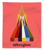 Afterglow Text Fleece Blanket