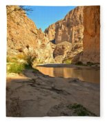 Afternoon At Boquillas Canyon Fleece Blanket