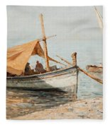 Afternoon In Toulon Fleece Blanket