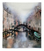 Afternoon In Venice IIi Fleece Blanket