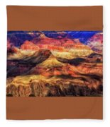 Afternoon Light At Mather Point, Grand Canyon Fleece Blanket