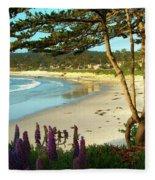 Afternoon On Carmel Beach Fleece Blanket