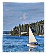 Afternoon Sail Fleece Blanket
