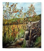 Afternoon Stroll Fleece Blanket