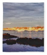 Afternoon Sun On Marblehead Neck Fleece Blanket