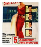 Against The House Film Noir  Fleece Blanket