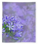 Agapantha Lilac Pastel By Kaye Menner Fleece Blanket