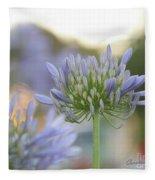 Agapanthus Africanus - Lily Of The Nile Fleece Blanket