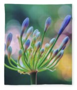 Agapanthus Dawn Fleece Blanket
