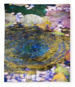 Agape Gardens Autumn Waterfeature II Fleece Blanket