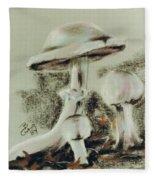 Agaricus Micromyathus Fleece Blanket by Barbara Keith