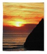 Agate Beach Oregon Fleece Blanket