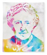 Agatha Christie Watercolor Tribute Fleece Blanket
