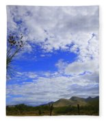 Agave And The Mountains Fleece Blanket