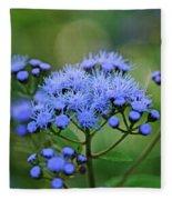 Ageratum Blue Fleece Blanket