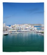 Agios Nikolaos Overview Fleece Blanket