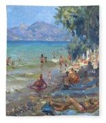 Agrilesa Beach Athens  Fleece Blanket