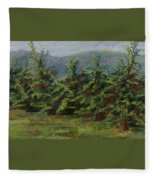 Ah The Apple Trees Fleece Blanket