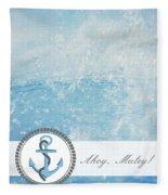 Ahoy Matey Fleece Blanket