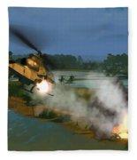 Air Conflicts Vietnam Front Fleece Blanket