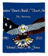 Air Force Desert Storm Fleece Blanket