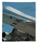 Air Force One Final Approach Into Charleston Sc Fleece Blanket