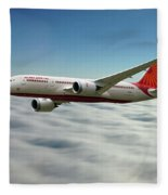 Air India Boeing 787 Dreamliner N1008s  Fleece Blanket