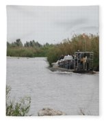 Airboat Rides 25 Cents Fleece Blanket