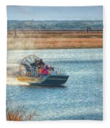 Airboat Rides Fleece Blanket