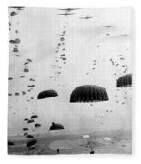 Airborne Mission During Ww2  Fleece Blanket