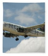 Airbus A320 Denver International Airport Fleece Blanket