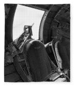Aircraft Machine Gun Wwii Fleece Blanket