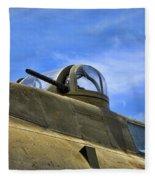 Aircraft Top Machine Gun Fleece Blanket