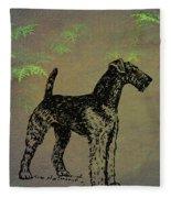 Airedale Terrier Fleece Blanket