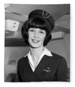 Airline Stewardess Fleece Blanket