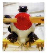 Airplane Wooden Propeller And Engine Pt 22 Recruit 02 Fleece Blanket