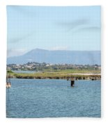 airport on Corfu island Greece Fleece Blanket