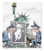 Airport Security And Liberty Fleece Blanket