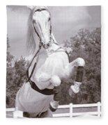 Airs Above The Ground - Lipizzan Stallion Rearing Fleece Blanket