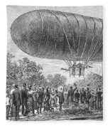 Airship Ascent, 1883 Fleece Blanket