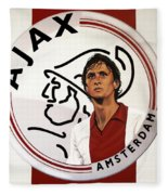 Ajax Amsterdam Painting Fleece Blanket